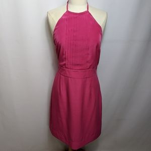 Banana Republic Hot Pink Halter Neck Dress